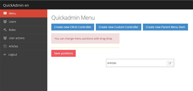 laravel-quickadmin-package-menyu-generator